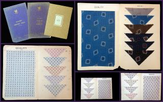 3 Lg Format Sample Swatch Folios for  Dimity, Voile and Batiste Cottons. Bedford Mills.New York .1920s