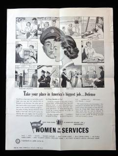 Broadside: Take your place in America's biggest job...Defense -Join the Women in the Services