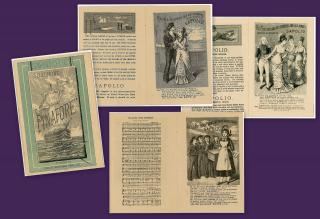 "Sapoli-o-lic"" Promotional Booklet features Selections from E.M.S. Pinafore . Enoch Morgan  Sons Co. (E.M.S).New York.1879"