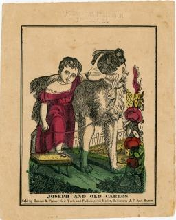 Small Advertising Flyer - Joseph and Old Carlos. Turner & Fisher, NY, Keller, Baltimore..1840s