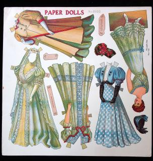 Uncut Bride Paper Doll Sheet No. 0102. McLoughlin.New York.1911-1913