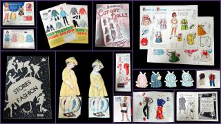 Collection of 20th Century Paper Dolls used in Fashion Advertising to Children Directly. .United States.1917-1996
