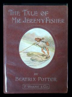 Beatrix Potter The Tale of Mr. Jeremy Fisher - Plum . Frederick Warne & Co .New York.1906