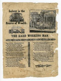 "Song Sheet: Labour is the Source of Wealth. ""The Hard Working Man"""