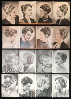 American Hair Fashions Inserts - New Looks Defined by American Hairdresser Magazine. .American Hairdresser.1946-1948