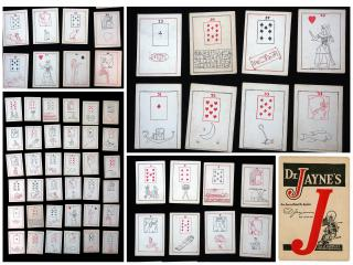 Complete set of Dr. Jaynes Egyptian Fortune Telling Cards. ..