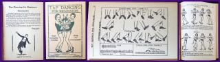 Hawley Wilson Tap Dancing for Beginner; Four Complete Courses with 315 Illustrations. Johnson Smith & Co..Detroit, MI.1935