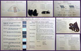 Wigmaking - A Comprehensive Hand Made Large Format Album complete with hair, mesh, weaving, knotting and instructions.. ..c1940s