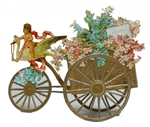 Exceptional  Delicate Open-Out Valentine - Cupid Rides Swan Pulling Flower Cart