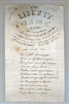 To Miss Liberty Dame - Hand Penned Acrostic 1822