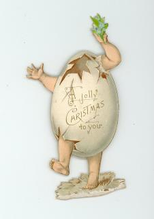 Egg Christmas Greeting Tuck