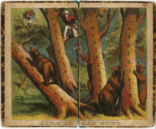 McLoughlin Bros. Game of Bear Hunt Board 1870