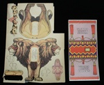 Uncut Lion Paper Toy Kitchen Klenzer Circus 1932