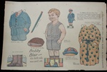 Bobby Blair - Uncut Boy Newspaper Paper Doll by Dan Rudolph 1923