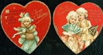 Nister Valentine Heart Shaped Cards