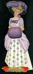 Lady with Purple Plumb & Muff--Muff with Hidden Message