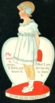 Nister - Sweet Young Girl in a White Dressing Being Too Shy for Her Valentine