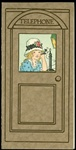 Telephone Booth with 1920's Style Girl Sending out Valentine Wishes