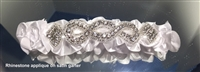 SATIN GARTER WITH RHINESTONES