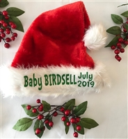 SANTA HATS - PLUSH AND PERSONALIZED
