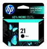 HP No. 21 Black Ink - C9351AN