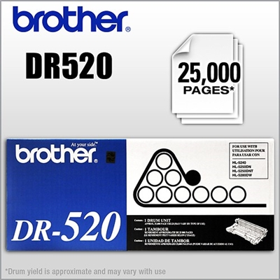 Brother DR-520 Black Drum Unit