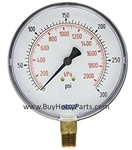 300 PSI Stainless Steel Bottom Mount Pressure Gauge 8.710-273.0