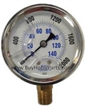 2000 PSI Stainless Steel Bottom Mount Pressure Gauge 8.710-280.0