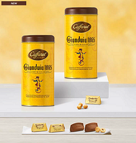 Caffarel Gianduia 1865 Chocolates Round Tin