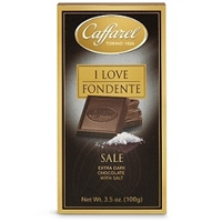 Caffarel Extra Dark Chocolate With Salt Bar