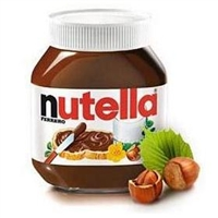 Italian Nutella Ferrero Hazelnut Chocolate Spread - Imported 450gr. Glass Jar