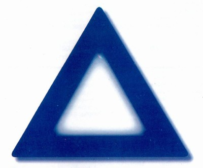 Thank You For Your Order >> Laminated Blue Triangle