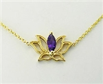 Lotus Amethyst Necklace