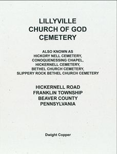 Lillyville Church of God Cemetery – Copper