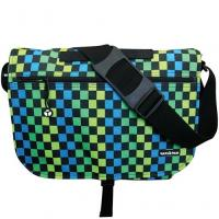 Yak Pak Basic Shoulder Bag - Turquoise Green Checker
