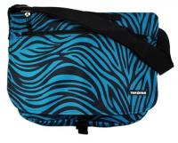 Yak Pak Basic Shoulder Bag - Turquoise Zebra