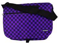 Yak Pak Basic Shoulder Bag - Purple/Black Checker