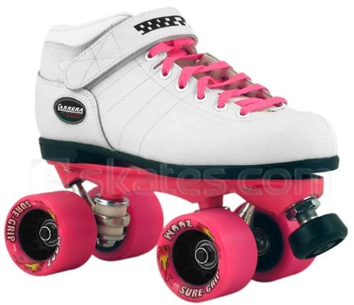 Carrera Deluxe Edition White/Pink Skates