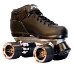 Sure-Grip Carrera roller skates for indoor speed skating.