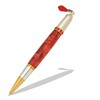 Diva Charm Ruby Red Crystals Pen Kit in Gold TN and Rhodium  Item #: PKCHPEN2