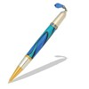 Diva Charm Blue Sapphire Crystals Pen Kit in Gold TN and Rhodium  Item #: PKCHPEN4