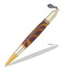 Diva Charm Purple Tanzanite Crystals Pen Kit in Gold TN and Rhodium  Item #: PKCHPEN5