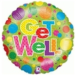 Get well balloon, large