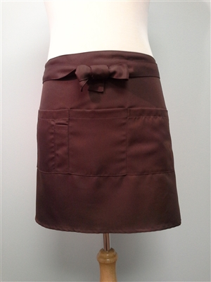 Seving Apron, Coffee, 4 Pockets