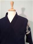Happi Sushi Chef Coat, Serving Short Kimono, Navy, Special Material, Cotton Shoulder Stitch