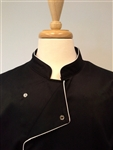 Chef Coat Black, White Trims