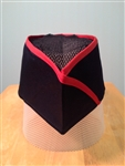 Sushi Skull Hat, Red Stripes on Navy