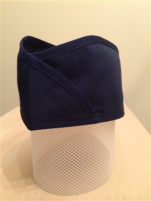 Sushi Skull Hat, Navy Stripes on Navy