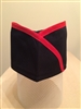 Sushi Skull Hat, Red Stripes on Black