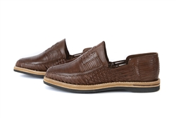 El Executivo Closed Toe Huaraches by SidRey - Brown